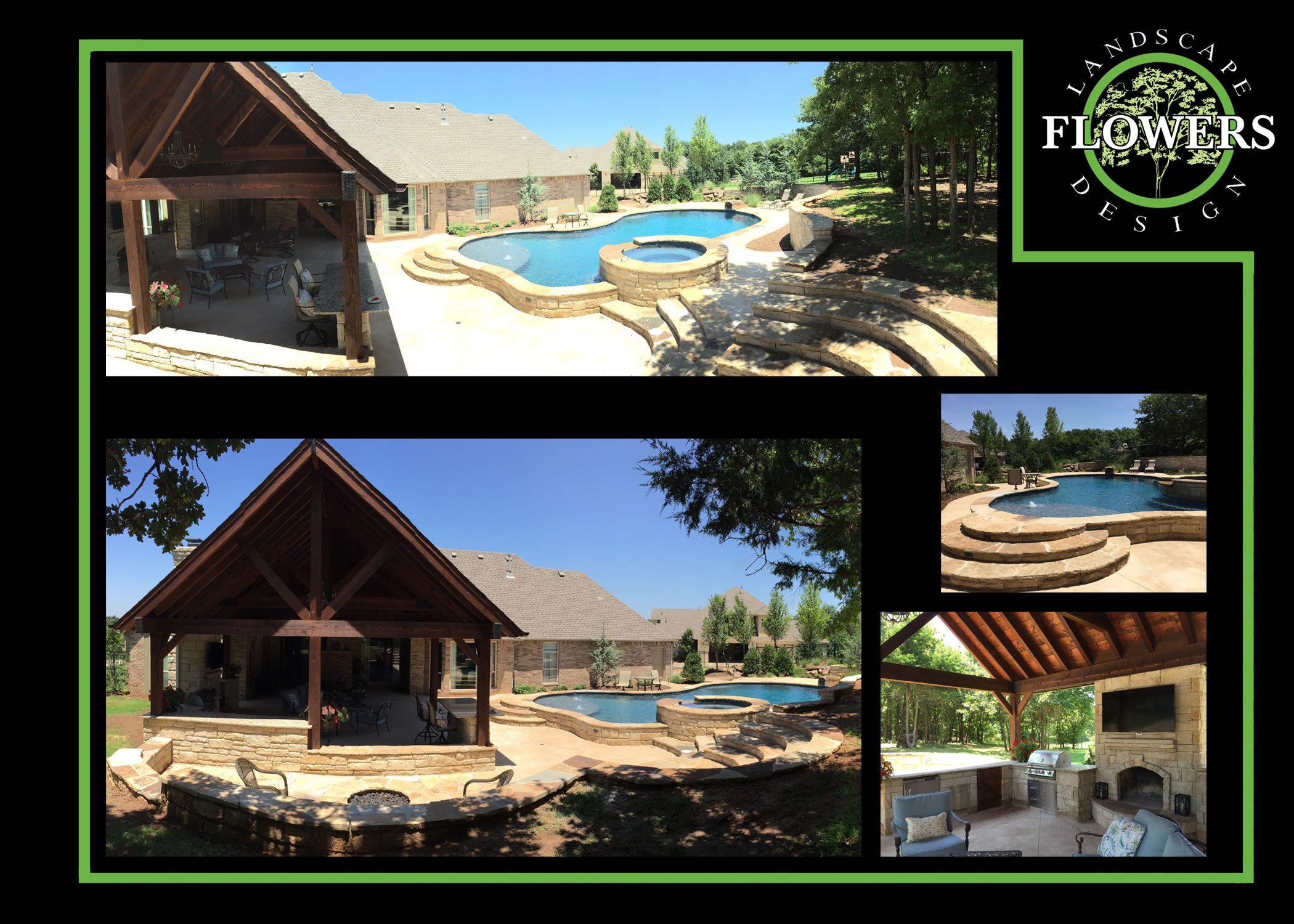 modern pool house and cabanas designs flowers landscape design