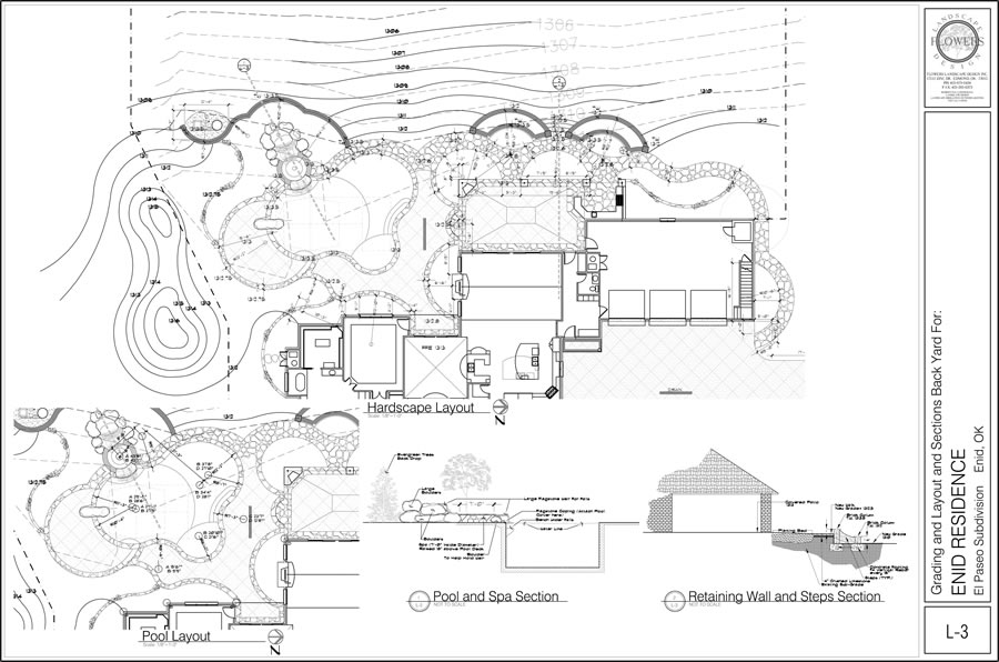 Sample Landscape Plans  Flowers Landscape Design  Edmond Oklahoma